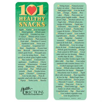 101 Healthy Snacks Bookmark