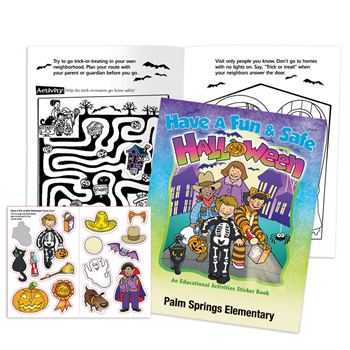 Have A Fun & Safe Halloween Educational Activities Sticker Book