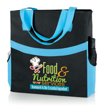 Harbor Non-Woven Shopper Tote Food & Nutrition Services Teamwork Is Our Essential Ingredient