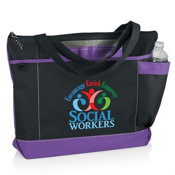 Social Workers Encourage, Enrich, Empower Madison Tote Bag