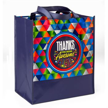 Thanks For Being Awesome Non-Woven Laminated Tote