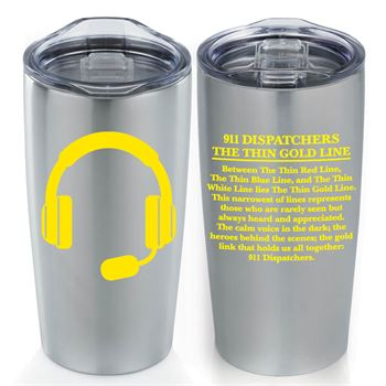 911 Dispatchers The Thin Gold Line Everest Tumbler
