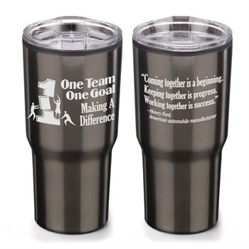 One Team One Goal Making A Difference Timber Insulated Stainless Steel Travel Tumbler