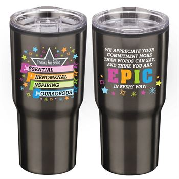 Thanks For Being Epic Timber Insulated Stainless Steel Travel Tumbler 20-oz.