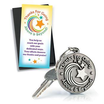 Thanks For Going Above & Beyond Pewter Key Tag