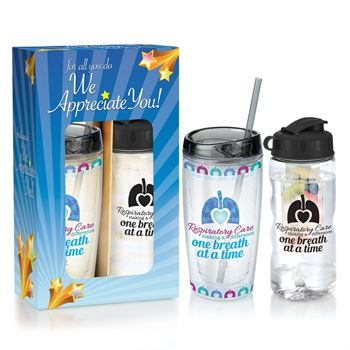 Respiratory Care: Making A Difference One Breath At A Time Deluxe Hot & Cold Beverage Gift Set