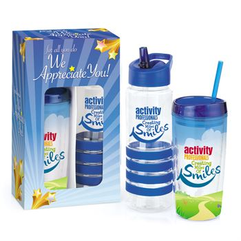 Activity Professionals: Creating Miles Of Smiles Deluxe Hot & Cold Beverage Gift Set