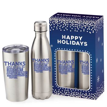 Thanks For All You Do Denali & Everest Deluxe Hot & Cold Beverage Holiday Gift Set