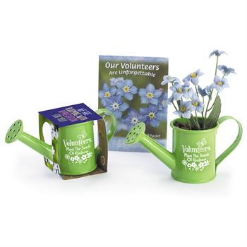 Volunteers Plant The Seeds Of Kindness Mini Watering Can Flowerpot Gift Set
