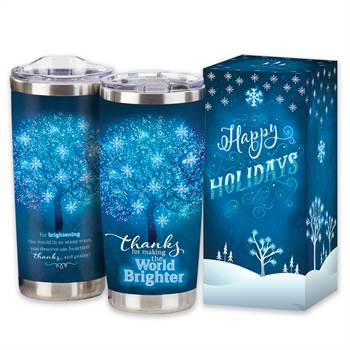Thanks For Making The World Brighter Full-Color Insulated Tumbler 20-Oz. in Holiday Gift Box