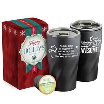We Don't Do Average We Do Awesome! Coffee-To-Go K-Mug Gift Set in Holiday Gift Box