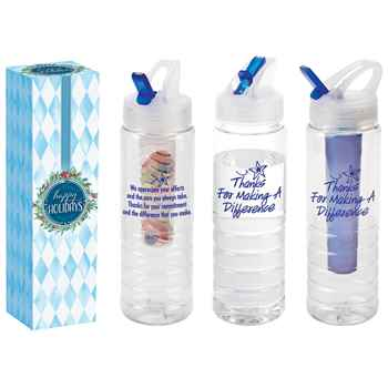 Thanks For Making a Difference 3-In-1 Essential Water Bottle 26-Oz. in Holiday Gift Box