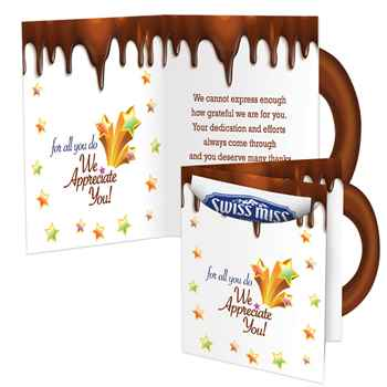 For All You Do We Appreciate You! Hot Cocoa & Greeting Card