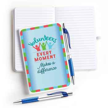 Volunteers: Every Moment Makes A Difference 4 x 6 Hardcover Journal With Pen