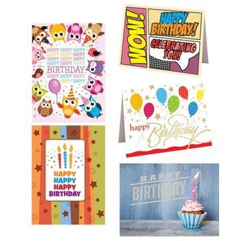 Birthday Greetings 25-Piece Greeting Card Assortment Set