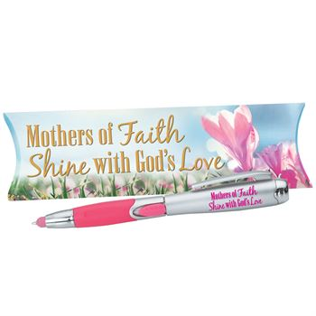 Mothers Of Faith Shine With God's Love 3-In-1 Stylus Pen & Light With Pillow Box