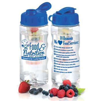 Food & Nutrition Services Teamwork Is Our Essential Ingredient 22-oz. Fruit Infuser Water Bottle