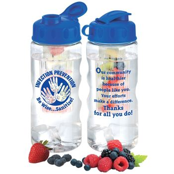 Infection Prevention Be Wise Sanitize Fruit Infuser Water Bottle