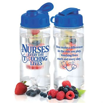 Nurses: Every Day Touching Lives Fruit Infuser Water Bottle