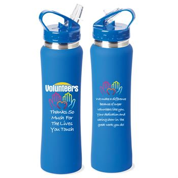 Volunteers: Thanks So Much For The Lives You Touch Lakewood Stainless Steel Water Bottle 25-Oz.