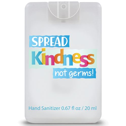 spread kindness not germs credit card style hand sanitizer