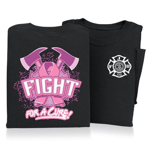 Fight For A Cure Short Sleeve T-Shirt (Personalized)