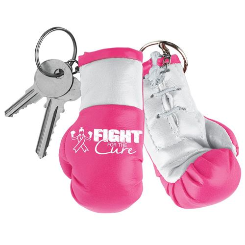 Fight For The Cure - Miniature Boxing Glove Key Chain