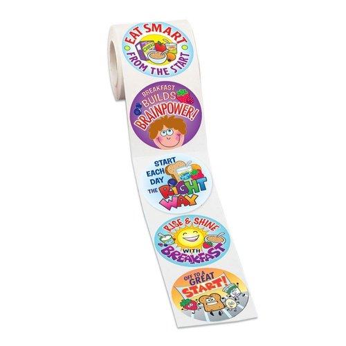 Breakfast Stickers On A Roll