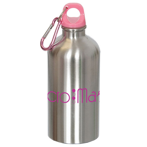 16-oz Stainless Steel Water Bottle With Carabiner