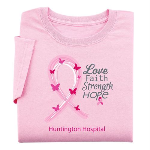 Love, Faith, Strength, Hope - Women's Cut Awareness T-Shirt With Personalization