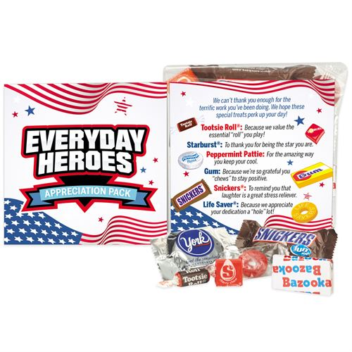 Magnetic Everyday Hero Pin POLICE OFFICER Appreciation Card