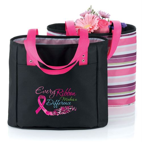 Every Ribbon Makes A Difference Breast Cancer Awareness Cambio Reversible Tote