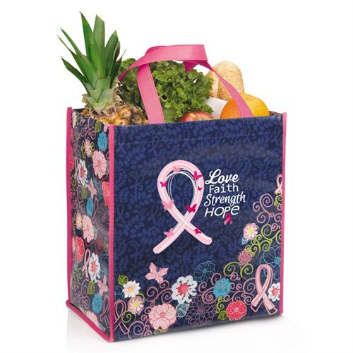 Love Faith Strength Hope - Laminated Floral Eco-Shopper Tote