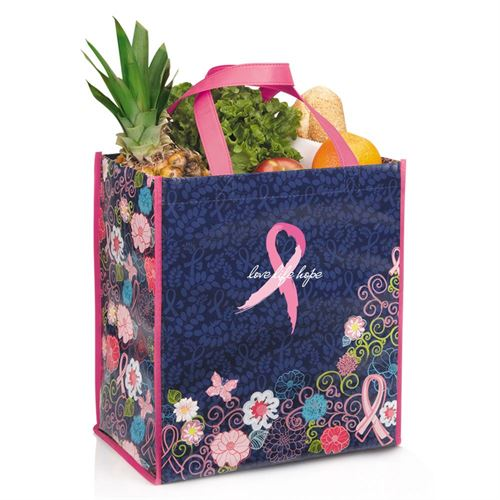 Love Life Hope - Laminated Floral Eco-Shopper Tote