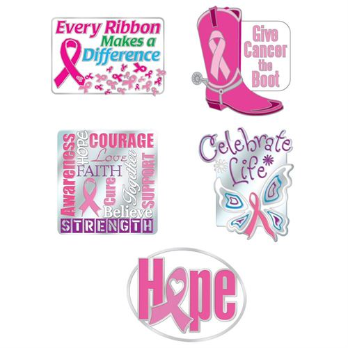 Breast Cancer Awareness Lapel Pin Value Assortment Pack With Presentation Cards
