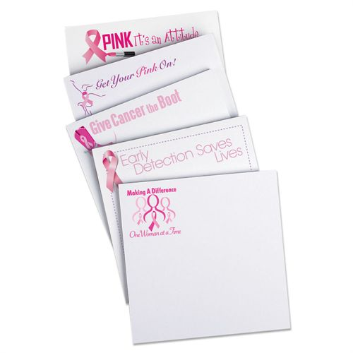 Breast Cancer Awareness Sticky Pad Assortment Pack