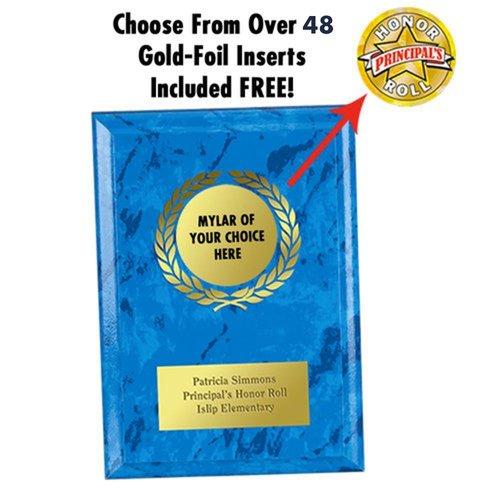 Blue Award Plaque