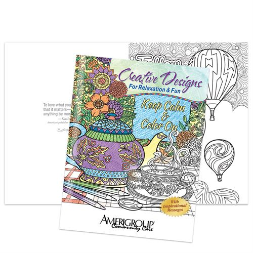 Keep Calm & Color On Creative Designs For Relaxation & Fun Adult Coloring Book