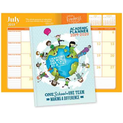 Behind Every Great School Is A Great Staff 2017-2018 Academic Monthly Desk Planner