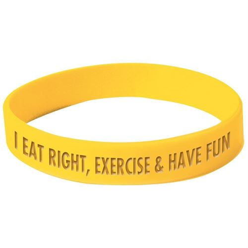 I Eat Right, Exercise & Have Fun Silicone bracelet