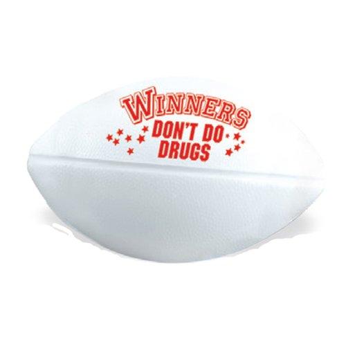Winners Don't Do Drugs Red Ribbon Mini Football