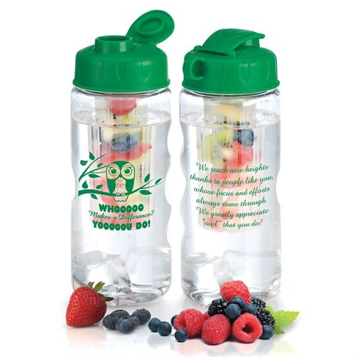 Whooooo Makes A Difference? Yooooou Do! Green Fruit Infuser Water Bottle