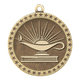 Lamp Of Knowledge Gold Academic Medallion - Personalization Available