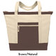 Jumbo Zipper Tote - Personalization Available