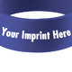 "1"" Wide Silicone Bracelet - Personalization Available"