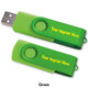 2GB 2-Tone Folding USB 2.0 Flash Drive - Personalization Available