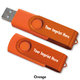 4GB 2-Tone Folding USB 2.0 Flash Drive - Personalization Available