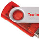 4GB Translucent Folding USB 2.0 Flash Drive - Personalization Available