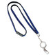 Badge Holder With 1-Color Imprint And Bull Dog Clip Bling Lanyard