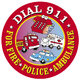 Dial 911 Stickers-On-A-Roll